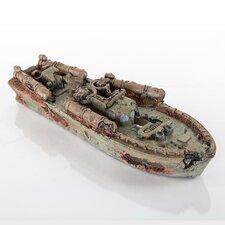 Decorative Sunken Torpedo Model Boat