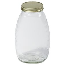 Little Giant 32 Oz Glass Honey Jar (Set of 12)