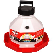 Plastic Poultry Waterer in Red