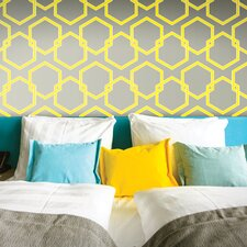 "Honeycomb Self-Adhesive Removable  33' x 20.5"" Geometric Panel Wallpaper"