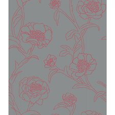 "Peonies 33' x 20.5"" Floral and Botanical Panel Wallpaper"