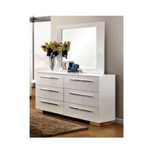 Lumier 6 Drawer Dresser with Mirror