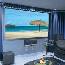 Onyx Pure White Fixed Frame Projection Screen