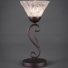 "Olde Iron 15.5"" H Mini Table Lamp with Bell Shade"