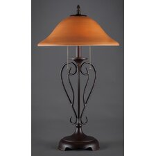 "Olde Iron 26.75"" H Table Lamps with Bell Shade"
