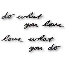 Mantra Do What You Love Wall Decor