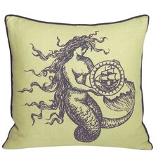 Nauticals Mermaid Throw Pillow