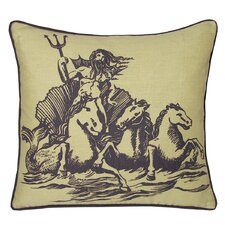 Nauticals Poseidon Throw Pillow