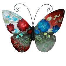 Spring Flowers Butterfly Wall Décor