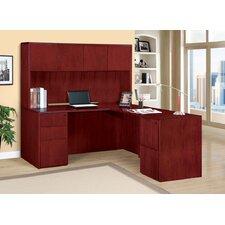 Saratoga 2 Piece L-Shape Desk Office Suite