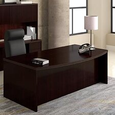 Saratoga Executive Desk with Bow Front