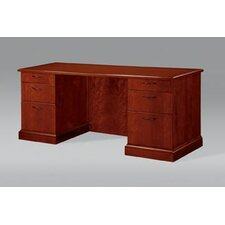 Belmont Executive Desk with 3 Right & 3 Left Drawers