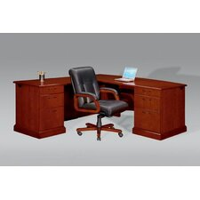 "Belmont Right ""L"" Executive Desk with 6 Drawers"