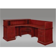 Belmont Right L-Shape Reception Desk with 6 Drawers