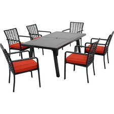 Melrose 7 Piece Dining Set with Cushions