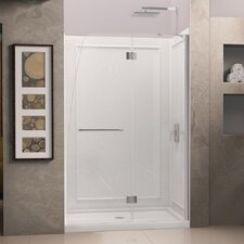 "Aqua 72"" x 45.88"" Pivot Hinged Shower Door with Hardware"