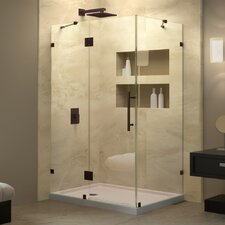 QuatraLux 34-5/16 in. W x 34-5/16 in. D x 72 in. H Hinged Shower Enclosure with Hardware