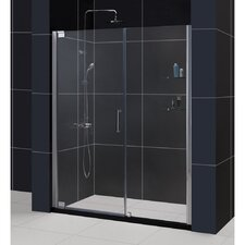 "Elegance 72"" x 60"" Pivot Frameless Shower Door"