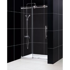 "Enigma-X 76"" x 48"" Sliding Fully Frameless Shower Door"