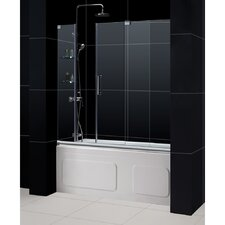 "Mirage 58"" x 60"" Sliding Frameless Tub Door"