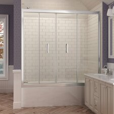 "Butterfly 58"" x 58.75"" Pivot Bi-Fold Tub Door with Hardware"