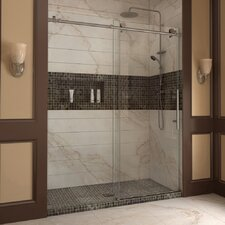 "Enigma-X 76"" x 56-60"" Sliding Fully Frameless Shower Door"