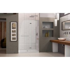 "Aqua Ultra 72"" x 45"" Pivot Frameless Hinged Shower Door"