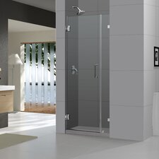 "UniDoor Lux 72"" x 48"" Pivot Frameless Hinged Shower Door"