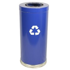 Metal Recycling 24-Gal Single Stream Industrial Recycling Bin
