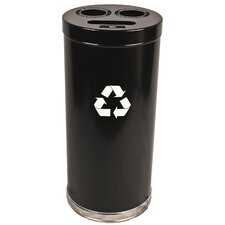 Metal Recycling 24-Gal Three Opening Multi Compartment Recycling Bin