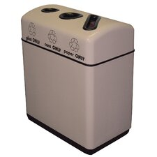 Fiberglass Recycling 48-Gal Triple Opening Multi Compartment Recycling Bin