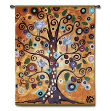 Abstract Tree of Life Series by Natasha Wescoat Tapestry
