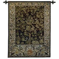"""Tree of Life"" Umber BW Tapestry"