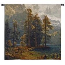 Sierra Nevada by Bierdstadt Tapestry