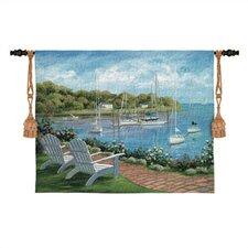 Cityscape, Landscape, Seascape Harborside Reflections Tapestry