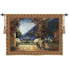 Cityscape, Landscape, Seascape Seaside Fountain Tapestry