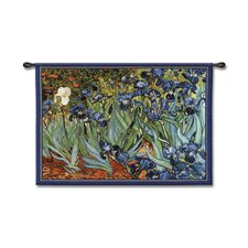 Classical Van Goghs Irises by Acorn Studios Tapestry