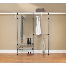 "10"" Deep Closet Rod System (Set of 2)"