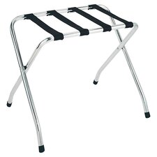 Deluxe Straight Leg Luggage Rack in Chrome