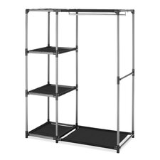 "50""H x 39.13""W x 19""D Spacemaker Garment Rack Shelves"