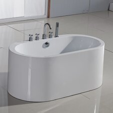 "PureScape 55"" x 30"" Semi-Freestanding Acrylic Bathtub"