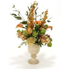 Mixed Silk Flowers in Chalice