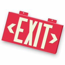 Non-Toxic Photoluminescent Exit Sign with Red Letters