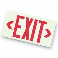 Photoluminescent Unframed Exit Sign