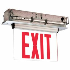 Single Face Universal Mount Red LED Edge Lit Exit Sign