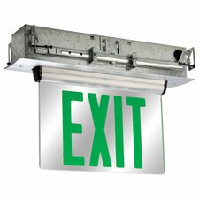 Double Face Universal Mount Green LED Edge Lit Exit Sign