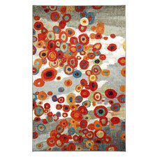 Strata Tossed Floral Multi Printed Area Rug