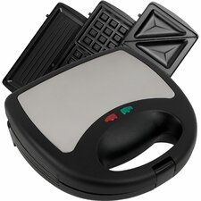 Sandwich Panini and Waffle Press with Lid