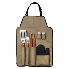 7 Piece BBQ Apron and Utensil Set