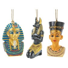 6 Piece Icons of Ancient Egypt Holiday Bust Set